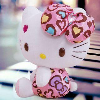 Plush Pink bowknot Dress Sit Hello Kitty Plush Doll Toy 8 Brand New
