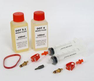 Formula Brake Bleed Kit + DOT 4 or DOT 5.1 Brake Fluid