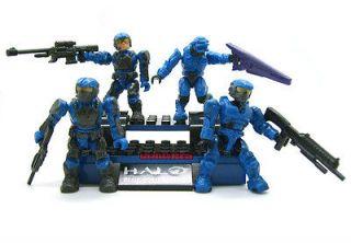 Mega Bloks Halo Reach Figure Marine Spartan Covenant Elite Blue Team