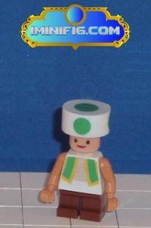 Custom LEGO Super Mario game figure Toad (green)