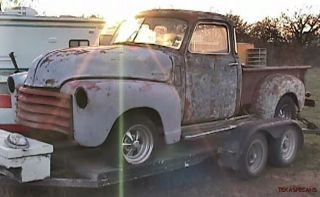 CHEVY 5 WINDOW PICKUP PROJECT TRUCK or RAT HOT ROD, NO TITLE, LOST