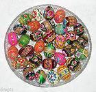 12 Pisanki Hand Painted Wooden Easter Eggs Pysanka