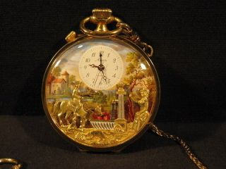 RARE ARNEX REUGE MUSICAL POCKET WATCH ALARM AND ORIGINAL CASE