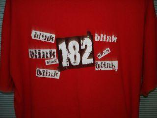 RETRO Blink 182 Shirt Mens XL Punk Pop Rock Band  Travis