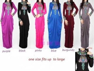 beautful Ladies Evening Dress Abaya Maxi Jalabiya Dubai Kaftan Caftan