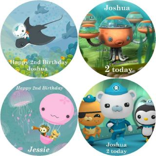 VARIOUS OCTONAUTS / PERSONALISED ROUND EDIBLE ICING SHEET CAKE TOPPERS