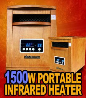 Diva Tranquility Portable Quartz Infrared Space Heater 1500 Watts Oak