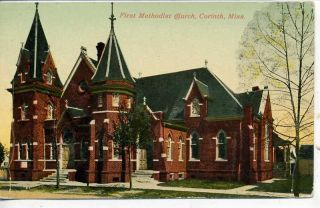 CORINTH MISSISSIPPI FIRST METHODIST CHURCH POSTCARD 16