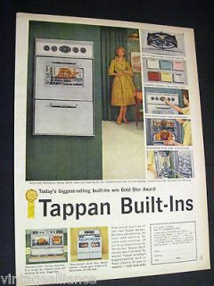 50s green kitchen image of Tappan Built In Oven & stove 1959 Print Ad