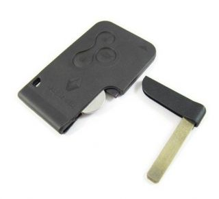 High quality Renault Megane smart card 3 button with key blade 434Mhz