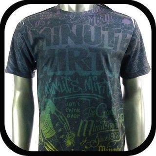 Minute Mirth T Shirt Tattoo bmx Graffiti Rock N97 Sz L Skate Board