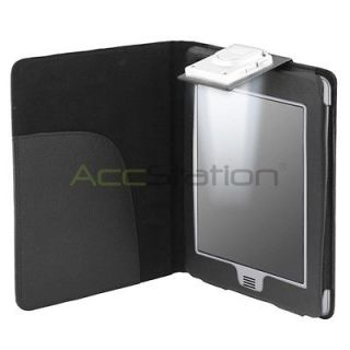 PU Leather Case Cover Wallet With LED Light For Kindle Touch Reader