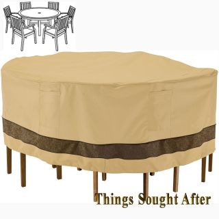 COVER for LARGE ROUND PATIO TABLE & SIX CHAIRS Outdoor Furniture