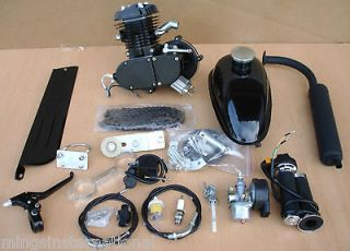 Stroke Engine 80cc Motor Kits for Motorized Bicycle Black Body Muffler