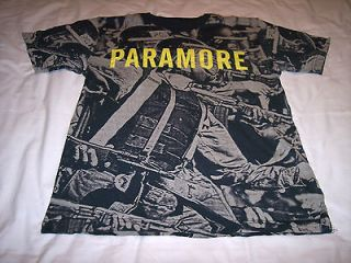 Paramore Rock Band Soldiers Gas Mask Machines Guns Gray Shirt Kid