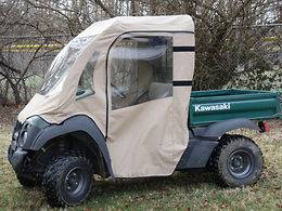 FULL CAB Enclosure w/ Clear Lexan Windshield ~ Kawasaki MULE 600 / 610