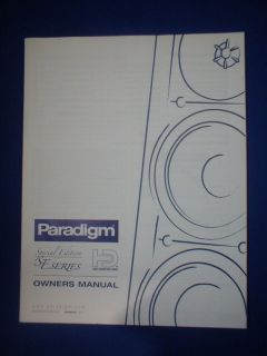 SE SERIES SPEAKERS OWNERS MANUAL SPECIAL EDITION ORIG ENGLISH FRENCH