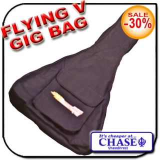CHASE FLYING V GIG BAG ELECTRIC GUITAR PROTECTION CASE