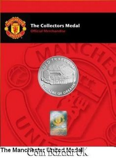 manchester united collector medal by royal mint from united kingdom