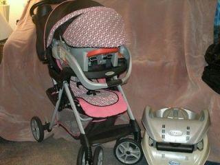 GORGEOUS Baby GIRLS Alano GRACO Pink & BLACK Stroller, CAR Seat & 2