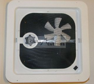 New 14 x 14 RV Roof Vent with 12 volt Fan **Ships Free**