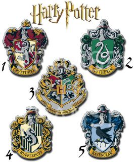 HARRY POTTER IRON ON T SHIRT FABRIC TRANSFER HOUSE CRESTS HOGWARTS