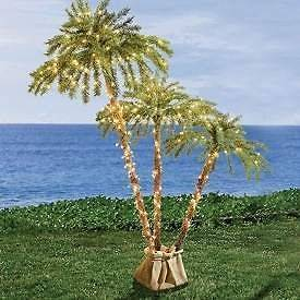lighted palm tree in Home & Garden