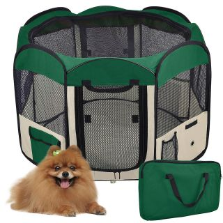 Door 600D Oxford Dog Cat Guinea Pig Playpen Exercise Kennel Cage Crate