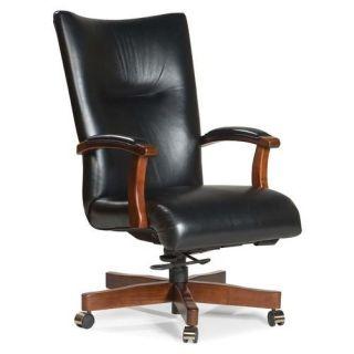 Fairfield Chair High Back Leather Executive Chair with Swivel