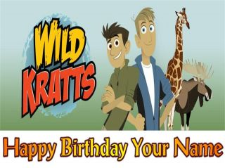 Wild Kratts   7  Edible Photo Cake Topper   Personalized   $3.00