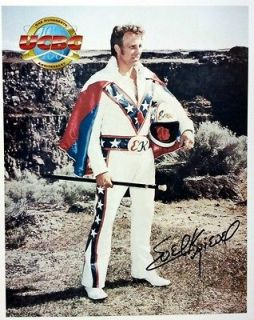 Evel Knievel Autograph Signed Promo In Person (1998) Snake RIver BOLD