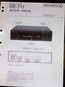 Kenwood GE 711 Graphic Equalizer Service/Parts Manual
