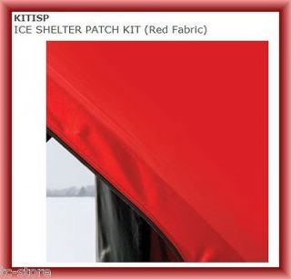 Eskimo KITISP ICE SHELTER SHANTY PATCH KIT Red Fabric