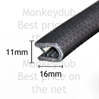 Large Black Car EDGE TRIM SEAL   Interior & Exterior   PVC Rubber Van