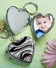 Glass Picture Locket Keychain Favors Bridal Shower Wedding Favor Lot