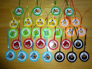 30 Angry Birds inspired GIFT TAGS BIRTHDAY PARTY FAVORS supply