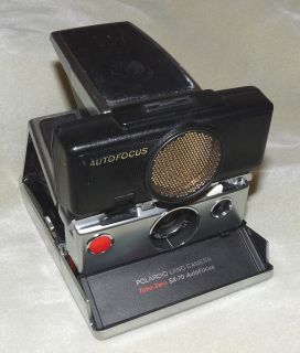 Vintage 70s Polaroid SX 70 Sonar One Step Instant Film Land Camera