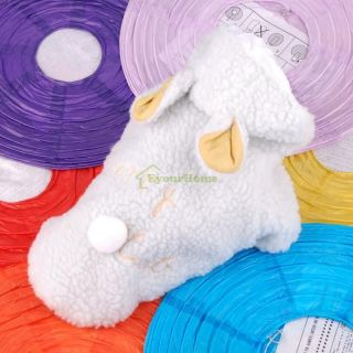 New Cute Sheep Warm Pet Dog Cat Clothes Coat Apparel Costumes S M L