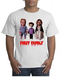 CHILDS PLAY KILLER DOLL FAMILY SCARY MOVIE CHUCKY EVIL HORROR TEE