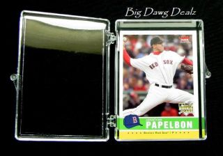 35 Count Trading Card Plastic Storage HINGED Box (1)