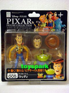 REVOLTECH Pixar Movie 005 Disney Toy Story WOODY action figure + ALIEN