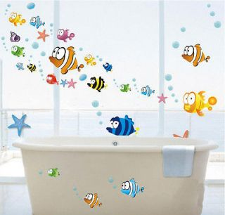 New TROPICAL FISH Nursery Room Wall Sticker Decor Decals Removable Art