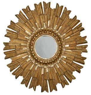 sherwood rustic wood sunburst oversized mirror 36 diam