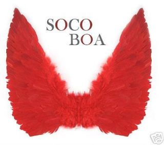 Large Red Feather Costume Fairy Angel Wings Adult Men Halloween
