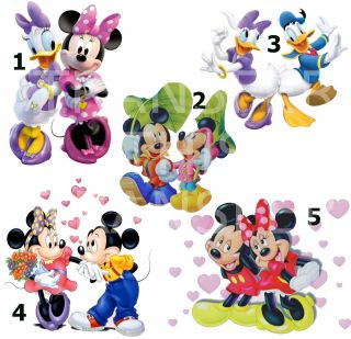IRON ON T SHIRT FABRIC TRANSFER MICKEY MINNIE MOUSE DAISY DONALD DUCK