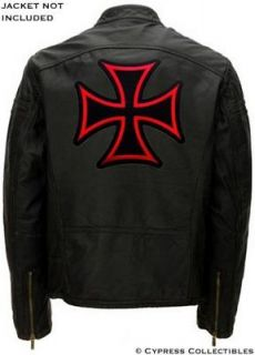 IRON CROSS BIKER PATCH Embroidered Maltese LARGE SIZE iron on CHOPPER