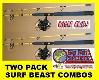 EAGLE CLAW Saltwater 7 SURF BEAST Combo 2 PACK NEW