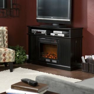 Black ELECTRIC FIREPLACE & TV Stand HEATER Indoor Ventless Fenton