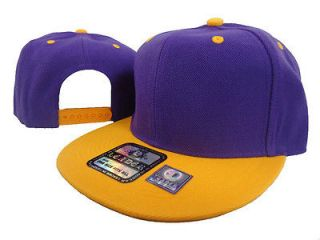NEW VINTAGE SWAG FLAT BILL SNAPBACK BASEBALL CAP HAT PURPLE/GOLD