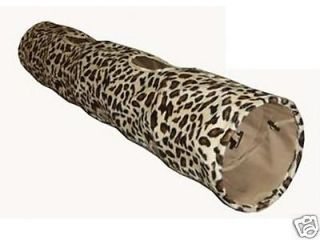 Leopard Print   Cat Tunnel   Crinkly   51 Long   NEW